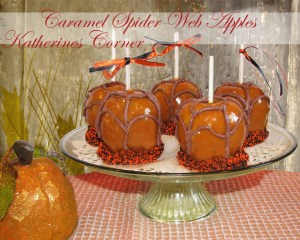 caramel spider web apples