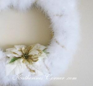 feather wreath diy