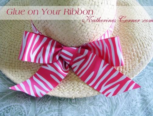 glue on the ribbon katherines corner
