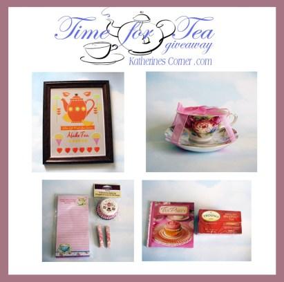 time for tea giveaway prizes katherines corner