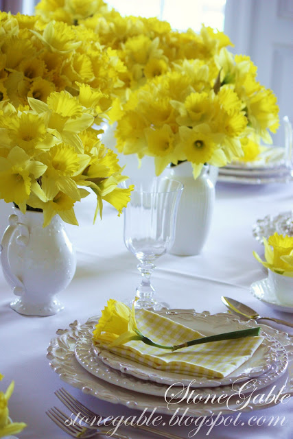 daffodil tablescape katherines corner