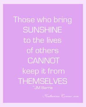 bring sunshine