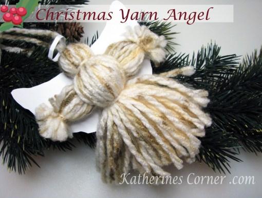how to make a christmas yarn angel