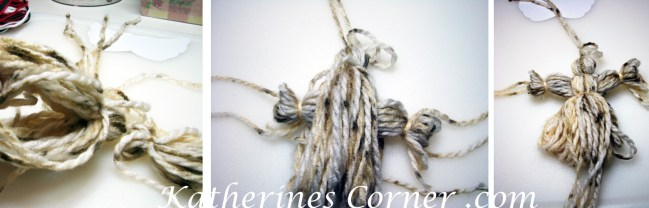 how to make a yarn angel steps 7 8 9