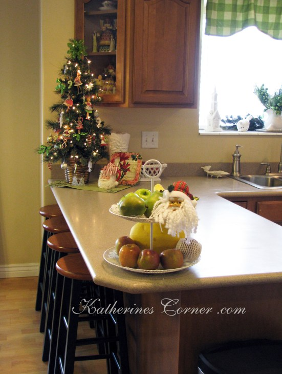 Christmas kitchen tree