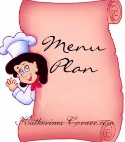 menu plan katherines corner