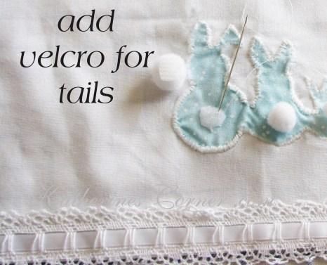 add velcro for bunny tails
