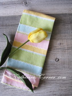 pastel tea towel