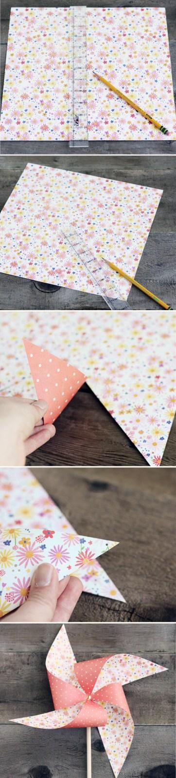 giant paper pinwheel diy