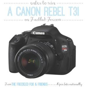 win a canon camera giveaway