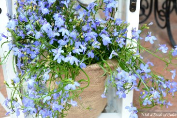adding flowers to your porch