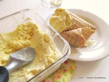 honey saffron ice cream