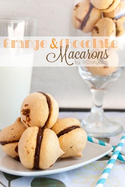 orange and chocolate macaroons