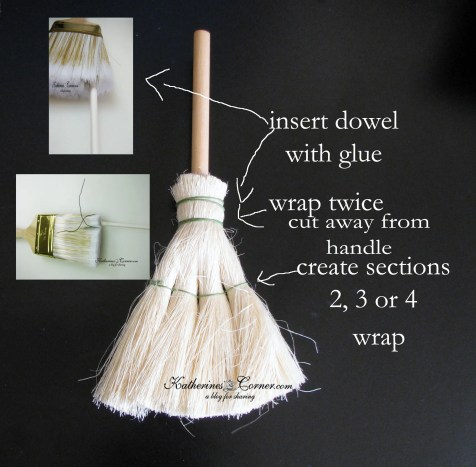 how to make a witches broom from a paint brush