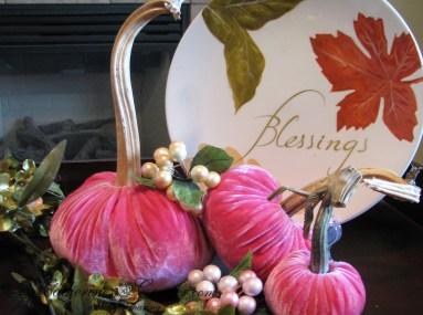 pink autumn decor