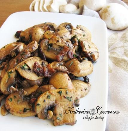 thanksgiving side dish herb mushrooms