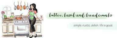 butter basil and breadcrumbs banner