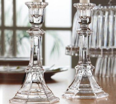 table setting crystal candle holders