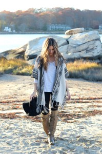 poncho outfit