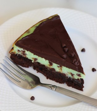mint chocolate brownie cheesecake