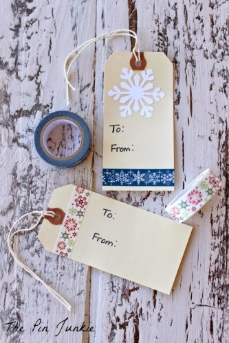 dollar store gift tag craft