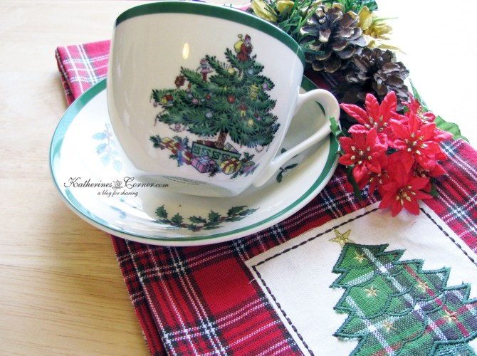 spode Christmas tree teacup katherines corner