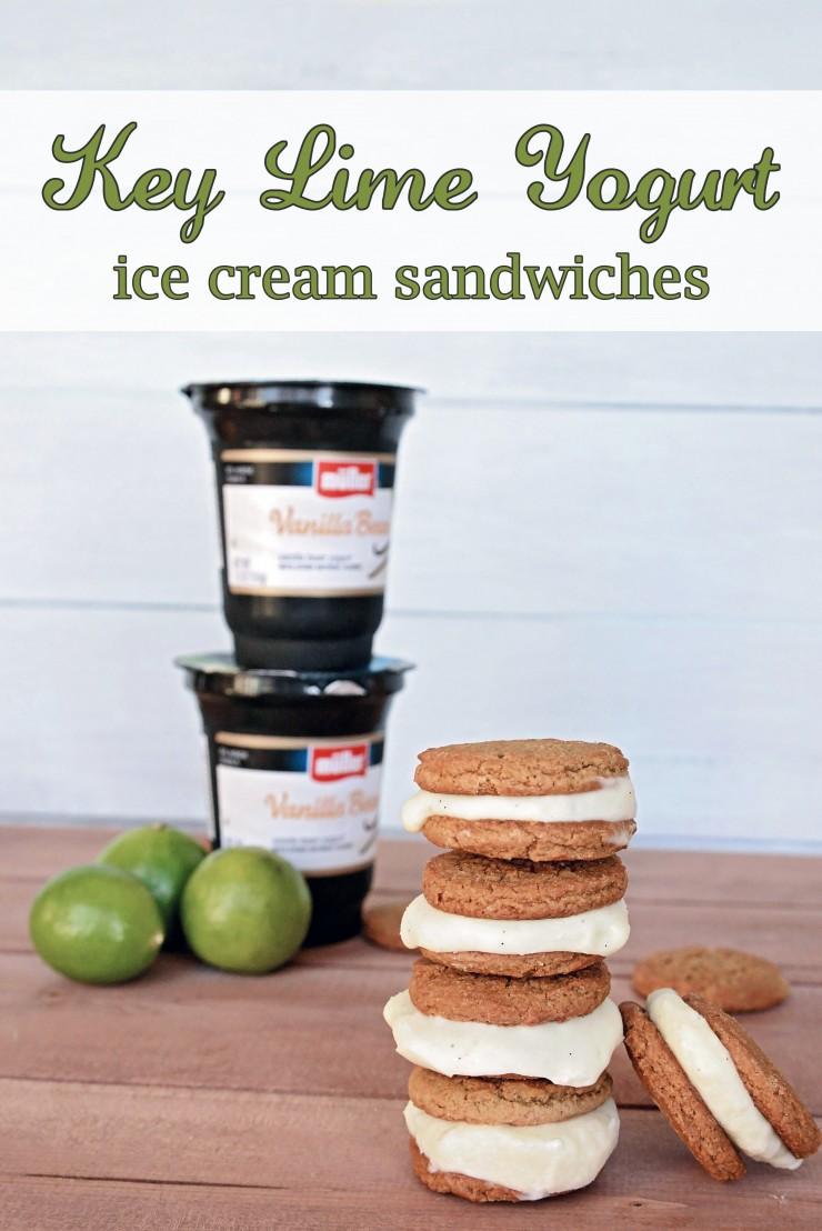 key lime yogurt ice cream sandwiches
