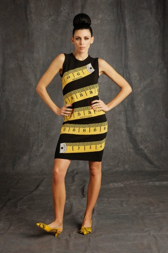 Moschino-9-black-yellow-measuring-tape-dress