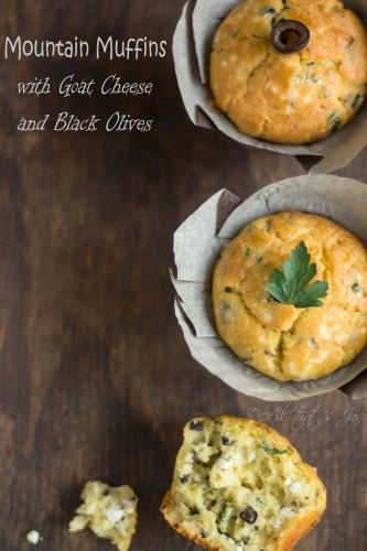 mountain muffins with goat cheese