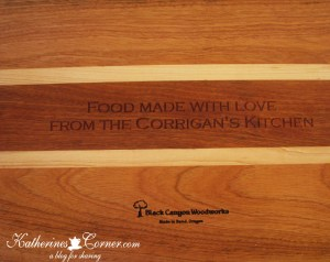 personalized cutting board  katherines corner