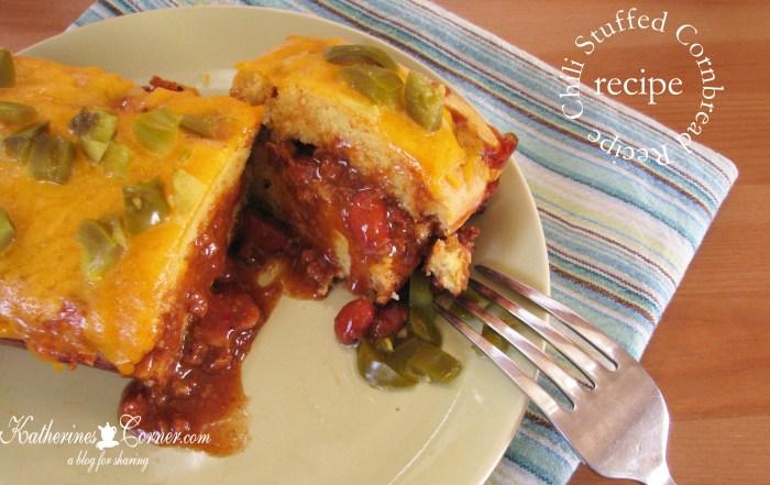 chili stuffed cornbread recipe