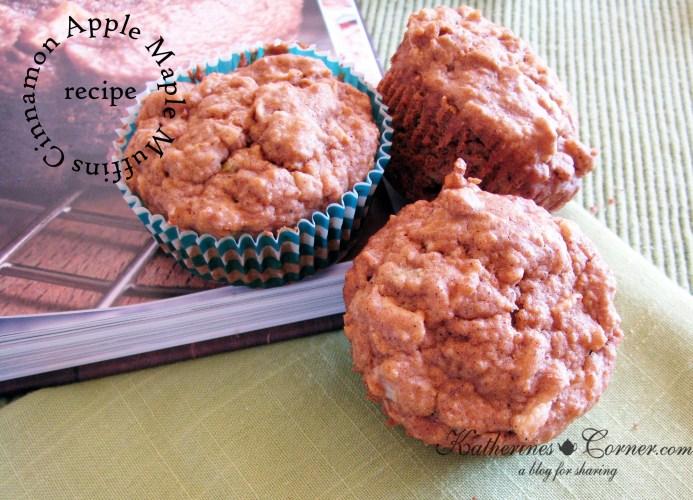 cinnamon apple maple muffins