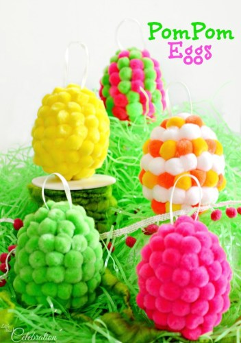 pom pom easter craft