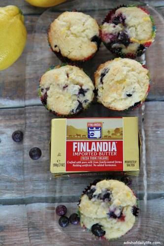 Glazed-Lemon-Blueberry-Mufins-with-Finlandia-Butter-