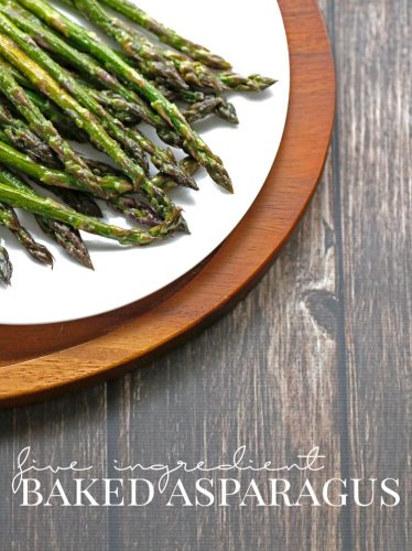 five ingredient baked asparagus