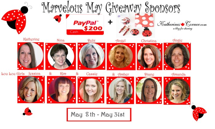 Marvelous May Giveaway Sponsors
