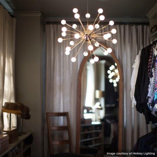 master closet chandelier