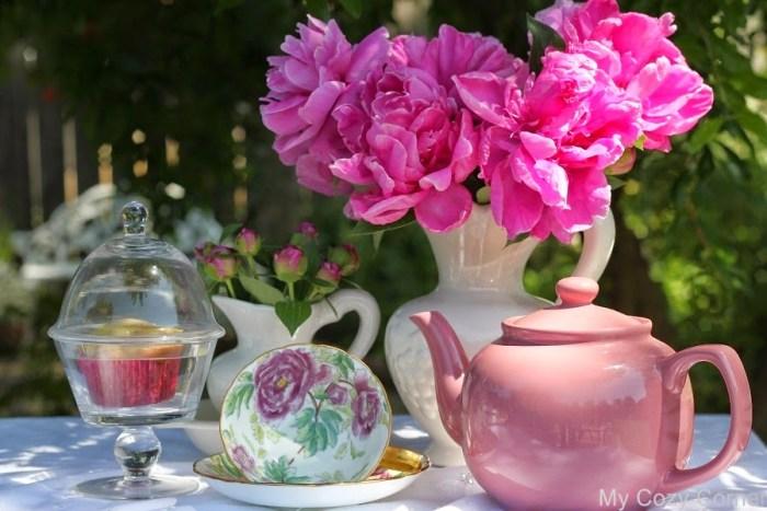 peonies tea party