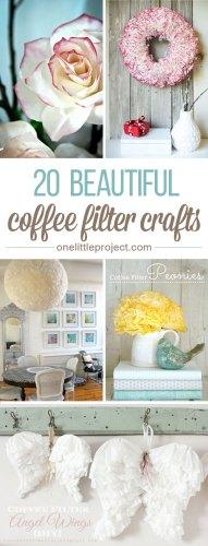 coffee filter crafts