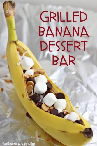 Grilled-Banana-Dessert-Bar
