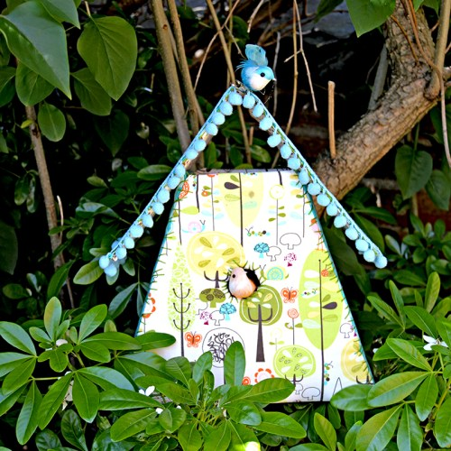 diy fabric bird house