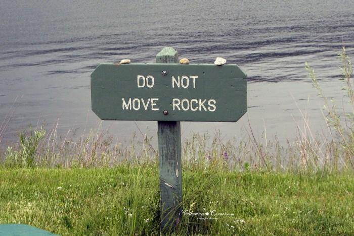 do not move rocks