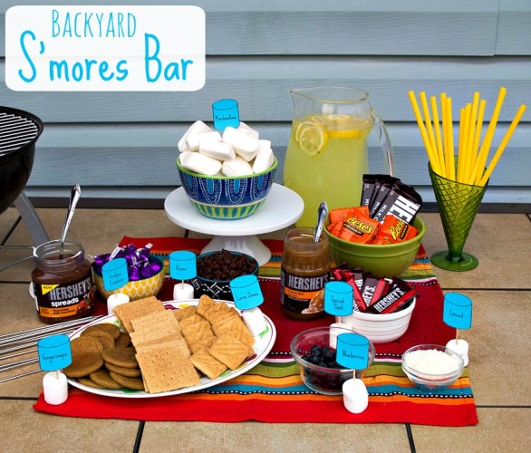 backyard smores bar