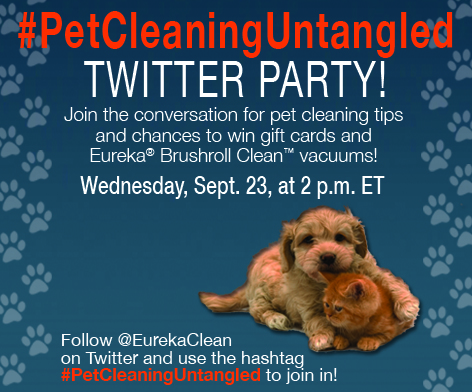 Twitter party join in and you may win a new vacuum