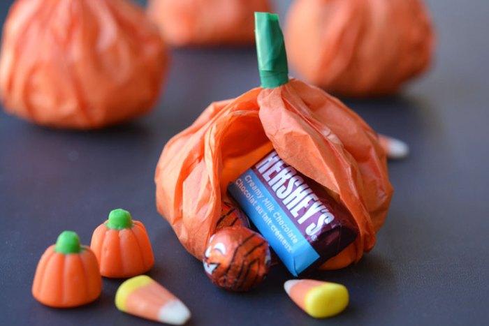 tissue Paper Pumpkin candy favors