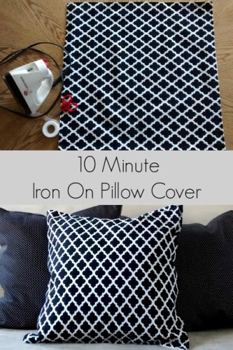 easy DIY new sew pillow cover