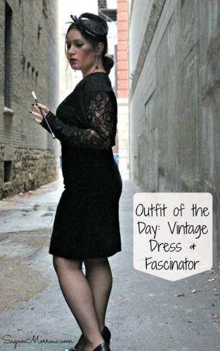 retro dress and fascinator