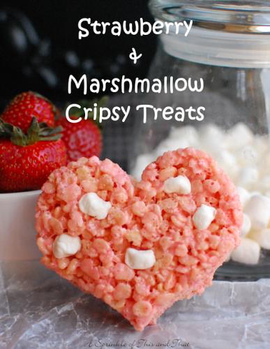 strawberry and marshmallow valentines treats