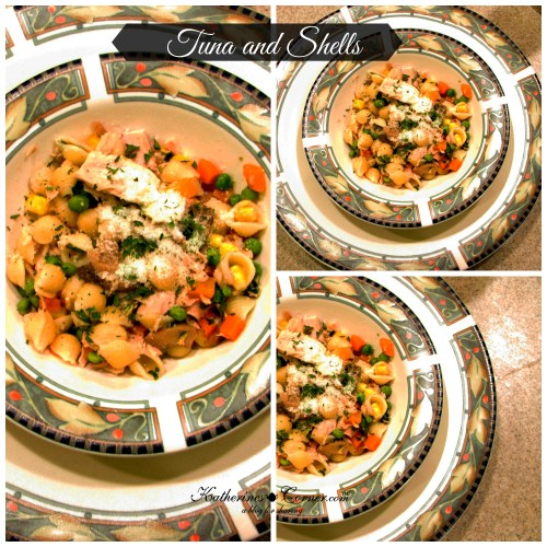 tunna and shells an easy one skillet meal
