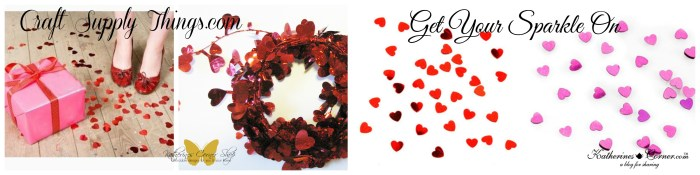 valentine confetti and garland
